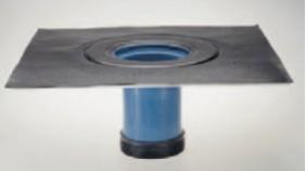 Abbildung: Aufstockelement mit Bitumen- Kragen